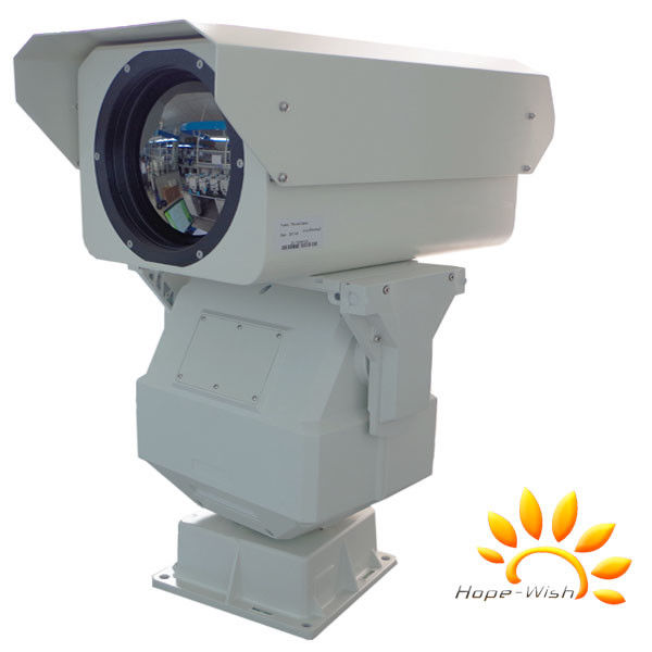 PTZ Long Range Thermal Security Camera With Optical Zoom Lens