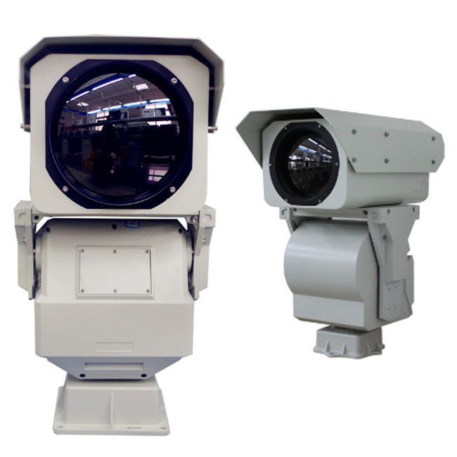 High Resolution Long Range Thermal Camera , Anti - Dust Perimeter Security Camera
