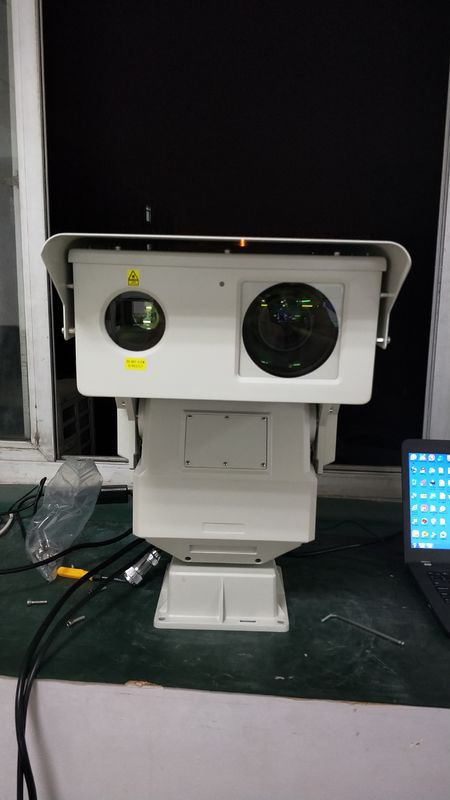 PTZ Type Long Range Infrared Camera For 2km Railway Surveillance , Double Window Design